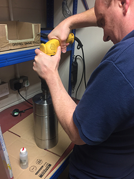 straightpoint engineer making a custom load cell